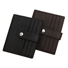 Hot Hasp Genuine Leather Business ID Cards Wallet Purse Men's Credit Card Holder