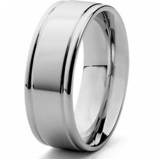 Men's Stainless Steel Brushed Finish Ring. Shipping is Free