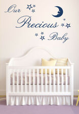 Our Precious Baby Vinyl Wall Art Sticker Decal, Nursery Bedroom Children's decor