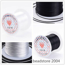 1roll Black/White Elastic Fibre Wire Fit Beading Jewelry Findings Cord 10m/roll