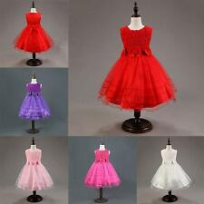 Girls Kids Toddler Baby Princess Party Pageant Wedding Flower Tulle Tutu Dresses