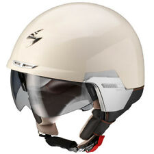 Scorpion Exo-100 Padova 2 Gloss Cream Open Face Motorcycle Helmet