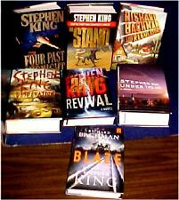 7 book lot sale of STEPHEN KING novels all are HB/J & fe, UNDERTHEDOME,REVIVAL,D