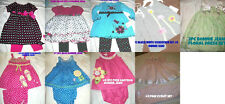 * NEW GIRLS BONNIE JEAN YOUNGLAND BUTTERFLIES HEARTS DOTS OUTFIT SET MULTI SIZE