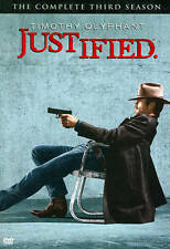 BRAND NEW SEALED Justified Complete 3rd 3 Season -3 DVD SET -SAME DAY 1st SHIP
