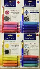 Faber-Castell Mix And Match Gelatos 4 Set NEW Blue Yellow Metallic Red