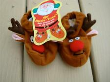 Vintage Baby Booties Christmas Reindeer NWT Russ Mistle-Toes Size up to 10 month