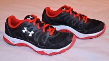 Under Armour UA Micro G Engage Sneakers Boys Size 3.5 Running Shoes Red Black