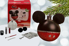 Disney Mickey Mouse Personalise Clear Christmas Baubles Decoration 6 / 12 Pack