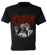 T shirt Cream 1960s British rock, retro, size S to XXL
