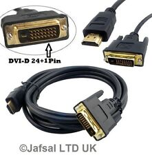 Digital Dual Link DVI-D 24+1Pin to HDMI Gold 19Pin Video DVD BlueRay Smart Lead