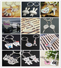 Lovers KeyChains  2pcs/Lot Key Ring Couples Romantic Gifts Metal Key Chain Decor