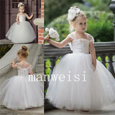 Newest Flower Girl Pageant Dresses Formal Ball Gown Princess Wedding Bridesmaids