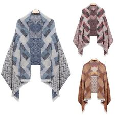 Women New Fashion Warm Plaid Quilted Shawl Wrap Stole Neck Long Scarf Winter