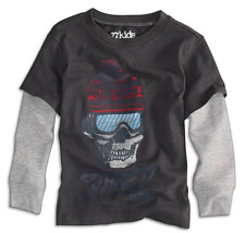 NWT Boys Size 2 Years 2T 77kids by American Eagle Long Sleeve Graphic Tee Shirt