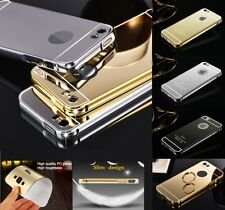 Luxury Aluminum Ultra-thin Metal Bumper Mirror Back Case Cover for Apple Phones