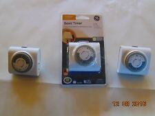 GE Basic Timer For Indoor/Interior Plug-In Use 24 Hour Model 15119 Free Shipping