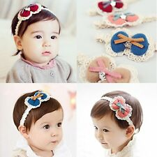 Lace Bowknot Baby Kids Girl Toddler Hair Band Headband Party Hair Accessories