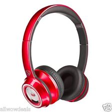 NEW MONSTER NTUNE NCREDIBLE ON EAR HEADPHONES CANDY RED BLUBERRY