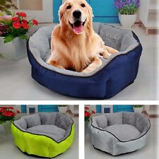 Pet Beds Dog Cat Warm Soft Oxford Washable Nesting Fleece Cushion Sleeping Bed
