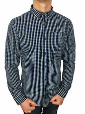 SALE £42 /Superdry Mens New England Dress Long Sleeved Shirt in Window Pane Blue