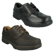 STAR STRIDE MENS CLARKS WIDE FIT LACE UP CASUAL ACTIVE AIR CUSHION SMART SHOES