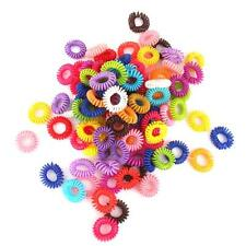 100pcs Colorful Elastic Rubber Hair Ties Band Rope Ponytail Holder Girl Kids