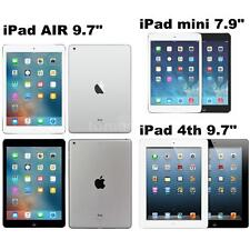 "Apple iPad mini mini 2 7.9"" iPad Air iPad 4th 9.7"" 16GB 32GB 64GB WiFi 5MP L5R0"