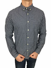 Superdry Mens L/S London Button Down Shirt in Marylebone Gingham Navy Size M