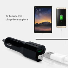 Quick Charge QC 3.0 Dual USB Ports Car Charger for Android iPhone Cell Phone