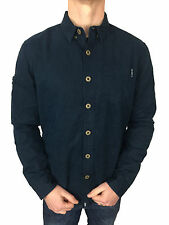 SALE £50 // Superdry Mens Longhorn Long Sleeved Midnight Blue Shirt in Size XXL