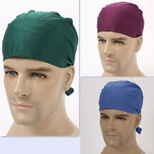 Cotton Pure Color Printing Scrub Skull Cap Medical Surgical Surgery Hat/Cap
