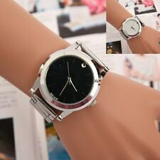 US Fashion Stainless Steel Band Analog Quartz Sport Women Men's #LE  Wrist Watch