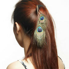 Native American Indian Hippie Feather Hair Comb Clip Extension Tribal Costume