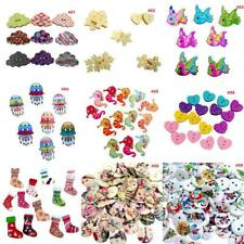 Mixed Wood Round Animal Buttons Embellishment for Sewing Craft Scrapbooking DIY