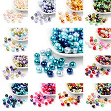 1 Bag Mixed Color Pearlized Glass Beads Pearl Beads 4mm/6mm/8mm Beading Jewelry