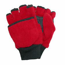 New CTM Kids' and Teens' Fleece Convertible Fingerless Winter Mitten / Gloves