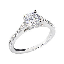 Women's Engagement Wedding Ring Oval CZ White Gold Plated Bridal Promise Ring