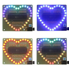 New DIY Kit Heart-shaped LED Red Blue Colorful Light Water Electronic LE