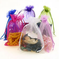 50pc Jewllery Organza Sweet Wedding Party Favour Gift Bags Pouches Draw String
