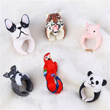 Fashion New Lovely Cartoon Resin Animal Finger Rings Animal Design Jewelry LE
