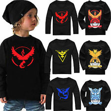Kid Boy Gril Long Sleeve POKEMON GO Hoodies Coats Hooded Sweatshirt Cartoon Tops
