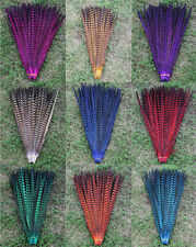 Colour Pheasant Tail Feathers 12'' - 14'' Arts Crafts Hat Costume Wedding Fly