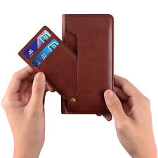 Genuine Real Leather Card Pocket Wallet Cover Pouch Case For iPhone 6 6S 7 Plus