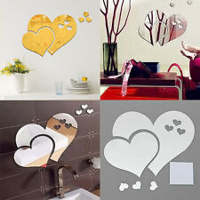 Removable DIY 3D Acrylic Modern Mirror Decal Mural Wall Sticker Home Room Decor