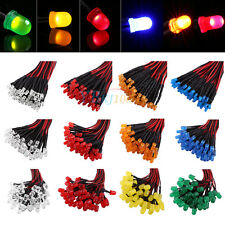 50Pc 12V Pre Wired 3 5 10mm Diffused LED Lamp Light Emitting Diode for DIY Decor