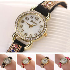 Fashion Womens Ladies Casual Watches  Leather Strap Analog Quartz Wrist Watch