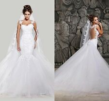 Babyonlinedress Mermaid Lace Wedding Dress White Ivory Bridal Dress Bridal Gown