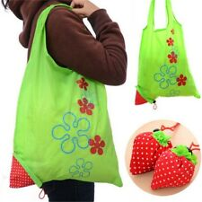 Strawberry Foldable Shopping Bag Tote Reusable Eco Friendly Grocery Bag LU