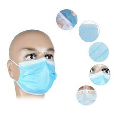 50 X  Disposable Medical Dustproof Surgical Face Mouth Masks Ear Loop New LU